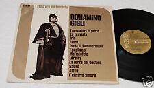 BENIAMINO GIGLI:LP-12 ARIE FAMOSE-CME NUOVO EX+