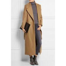 Women Plus size Cassic Simple Wool Maxi Long Coat Female Robe choose size/color