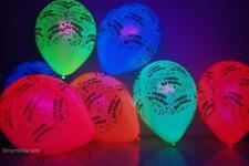 Assortorted 11 inch Latex UV Blacklight Reactive Happy Birthday Balloons