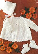 Knitting pattern bambino prematuro Ragazzi Ragazze Cardigan Maglioni Scialli Coats nv06