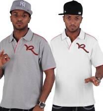 Rocawear UOMO ESTIVO COTONE ROCCI POLO Hip Hop Maglietta SOLDI Time Is URBAN