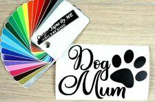 Dog Mum Car Sticker Vinyl Decal Adhesive Wall Door Laptop Window Bumper Black