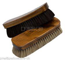 Horse Hair Cepillo De Zapatos Negro Natural 100% Pelo De Caballo De Madera Cuero Zapatos De Diseño