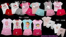 Schlafanzug Pyjama Charmmy Kitty Dora Emily Erdbeer Winnie 98 - 140 Sommer kurz