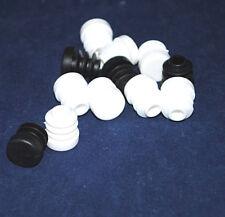 Gleitkappen Endkappen Weiß 13mm Rund Kunststoff Schützt Böden und alles Glatte