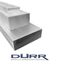 Aluminium Flachstange Maße wählbar L: 50mm bis 1000mm Alu Flachmaterial AlMgSi1