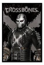 Framed Captain America Civil War Crossbones Poster New