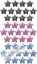 Joyeux Anniversaire pailleté 13-60th 50.8cm étoile Ballon plat décoration pour