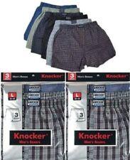 3pc Lot Men Plaid Boxer Trunk Shorts Underwear Cotton Check Briefs Knocker S~3XL
