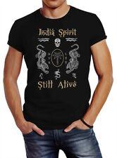 Neverless® Herren T-Shirt Tiger Motiv Totenkopf India Spirit Schriftzug Indien
