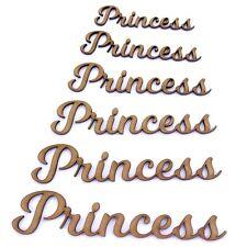 Palabra De Princesa Forma de artesanía, varios tamaños, 2mm Madera Mdf. se unió a letras, secuencia de comandos