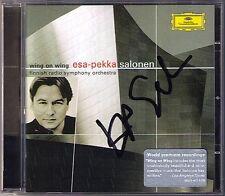 Esa-Pekka SALONEN Signed WING ON WING Insomnia Foreign Bodies CD Anu Piia Komsi