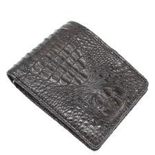 Double Sided Genuine Alligator Crocodile Skin Leather Men's Bifold Wallet