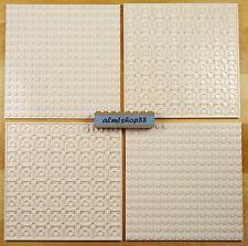 "Lego - 16x16 Dots (5""x5"") White Baseplate Lot 91405 Thick Base Plate Flat"