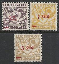Surinam 1945 NVPH Airmail 24-26  MNH  VF