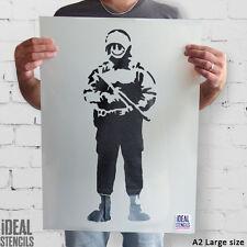 Banksy Smiley RAME Stencil riutilizzabili Home Decor Arte Pittura Stencil IDEALE
