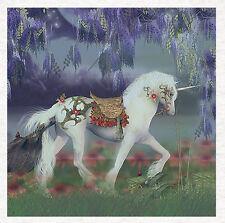Unicorn, Fantasy Unicorn Fabric Quilting |  Sewing | Craft Panel