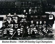 Boston Bruins 1928-29, 8x10 Championship Team Photo