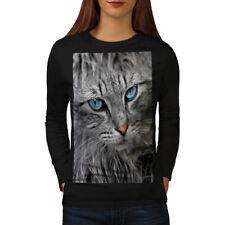 Furry Cute Adorable Cat Women Long Sleeve T-shirt NEW | Wellcoda