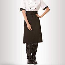 Durable Unisex Black Short Waist Apron with Pocket for Chef /Waiter /Waitress