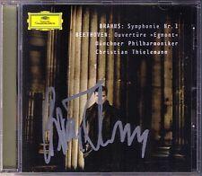 Christian THIELEMANN Signiet BRAHMS Symphony No.1 BEETHOVEN Egmont Overture CD