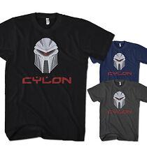 Herren T-Shirt Battlestar Galactica Cylon Robot Cyber Spiel Film Neu CL1217