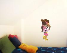 Süßes Cowgirl Wandtattoo Wandaufkleber Kinderzimmer  6 Größen