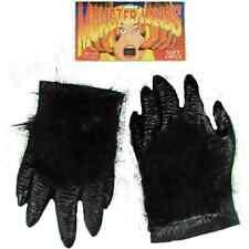 Hairy Monster Hands Gorilla Bigfoot Halloween Adult Costume Accessory 2 COLORS