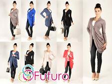 Rebeca Manga Larga Poncho abrigo jersey chaqueta bolero tamaños 8-18 0521
