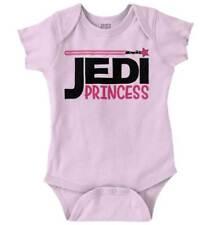 Jedi Princess Leia Cool Gift Lightsaber Star Wars Cute Funny Romper Bodysuit