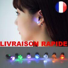 Boucle D'oreille LED ETOILE Lumineuse Acier Inoxydable Coloris Au Choix NEUF