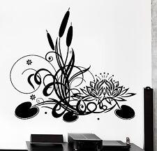 Wall Sticker Lotus Floral Flower Reed Meditation Zen Vinyl Decal (z2949)
