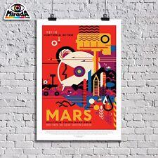 POSTER MANIFESTO NASA ESOPIANETI VINTAGE NASA MARS COLLEZIONE 10 ARTE TOPQUALITY