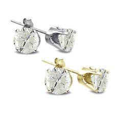 2/3 Ct TDW Round Diamond 14K White or Yellow Gold Earrings