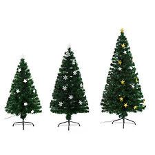 HOMCOM - Albero di Natale con Luci LED 120/150/180cm Artificiale in Fibra Ottica