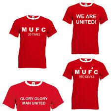 NEW Manchester United Retro T Shirt - Cheap Man U UTD MUFC tee Red Devils shirt