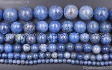 "Natural Sunset Dumortierite Gemstone Round Beads 4mm 6mm 8mm 10mm 12mm 14mm 16"""