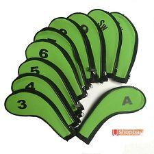 Golf Iron Club Covers Sleeve G/B Zipper x10pcs w Callaway Ping Titleist Mizuno