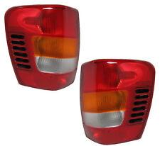 99 00 01 02 Grand Cherokee Left & Right Taillight Taillamp Lamp Light Pair L+R