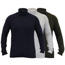 Nuevo Suéter Para Hombre Threadbare De Punto Jersey Cuello Alto Invierno