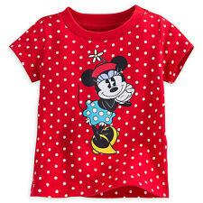 Disney Store Minnie Mouse Rosso a Pois Bambine Camicia 3 12 18 Mesi