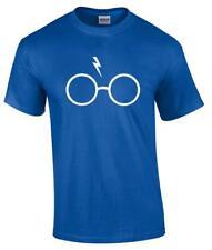 Harry Potter Lightning Bolt Glasses Hogwarts Parody T-Shirt