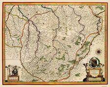 Old France Map - Champagne Region - Blaeu 1635 - 23 x 29.32