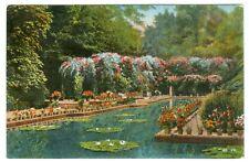 Sevilla, parque estanque de lote lirios, 1926