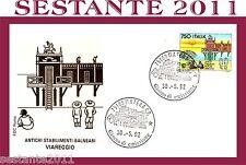 ITALIA FDC ROMA ANTICHI STABILIMENTI BALNEARI VIAREGGIO 1992 ANNULLO MATERA, E57