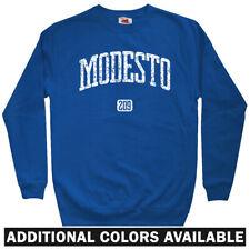 Modesto 209 California Men's Sweatshirt - Crewneck S-3X - Gift Area Code Vintage