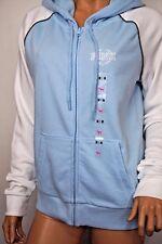 VICTORIA'S SECRET PINK FULL  ZIP HOODIE SWEATSHIRT WHITE & BLUE XS S M L