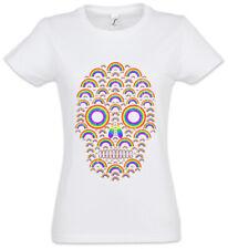Rainbow Skull Women T-Shirt Skulls Tattoo Oldschool Fun