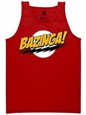 Red Adult Comedy Show The Big Bang Theory Bazinga! Sheldon Logo Tank Top Shirt