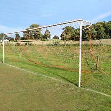 Orange & Black Striped Full Size Football Goal Nets - [Net World Sports]